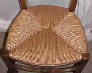 Another Lost Art Of Fiber Rush Caning That Can Be Tinted And/or Clear Coat  Sealed For Longer Use And To Prevent Pets From Using Seat As A Scratching  Post.